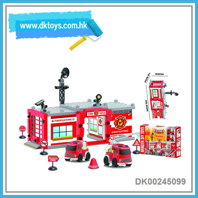 DIY intelligent fire control block set for kids to play 59pcs