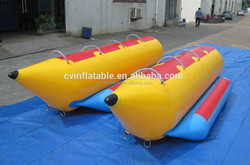 High Quality 10 Persons Inflatable Banana Boat/ inflatable double boat/inflatable water game