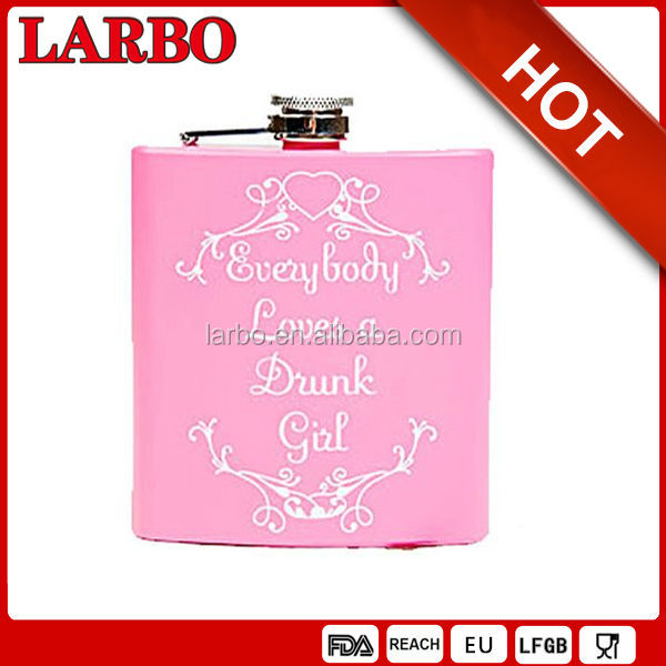2014 hot sell painting stainless steel hip flask