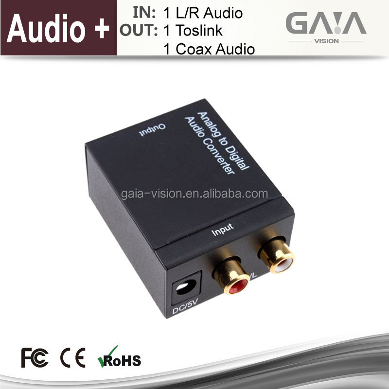 Anolog+L/<strong>R</strong> Audio to digital/Toslink/Coaxial Audio HDMI Converter Upscalling HDCP <strong>1080P</strong> 3D HDMI converter adapter