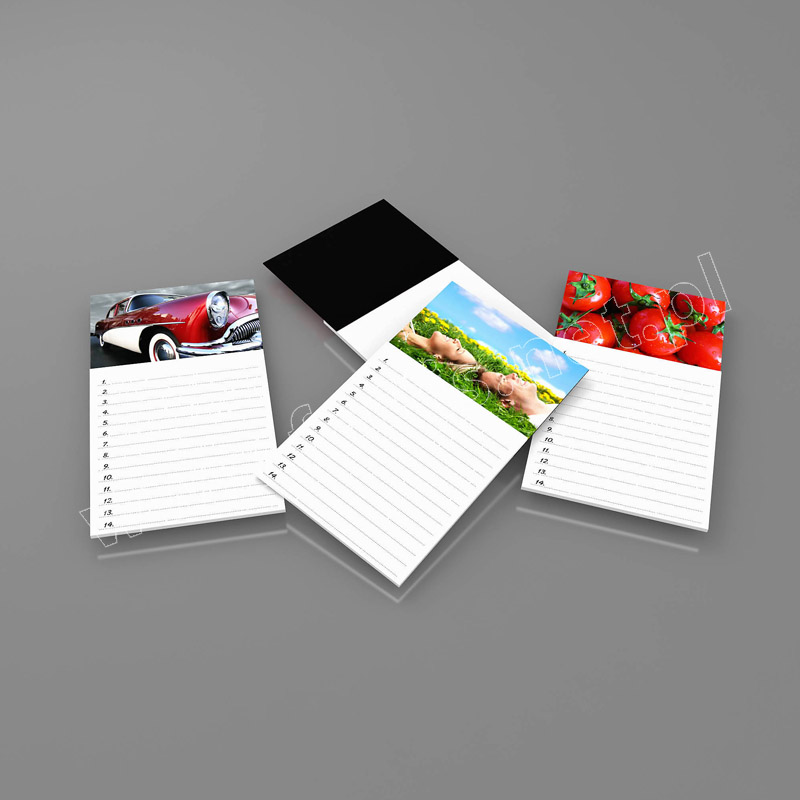3D lenticular custom fridge notepad - great at home or at the office, custom print
