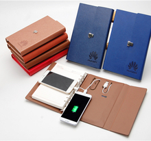 Factory supplier special-purpose powerbank hard cover notebook