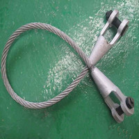 ungalvanized wire rope sling/ galvanized steel wire rope with open or closed spelter socket