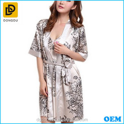 2015 customized Silk Bath Robe