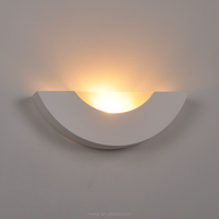 Wall-Light-MG-3121 White gypsum shell shaped wall light gypsum art indoor Wall Light