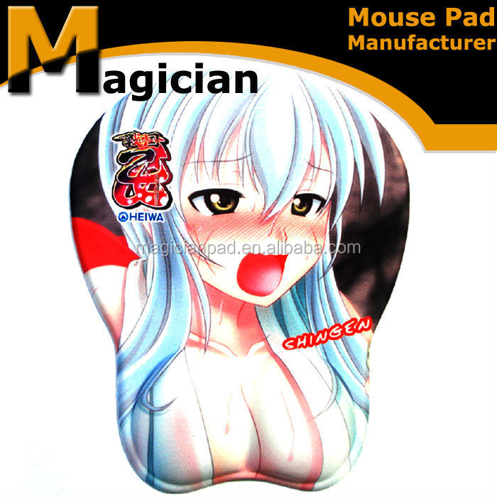 Favorites compare funny design big boobs 3D Printed Colorful Rubber Mouse Pad