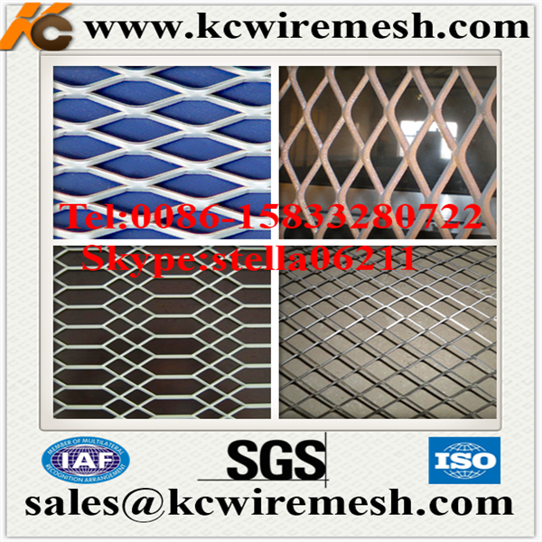 Factory!!!!! KangChen Aluminium plain steel expanded metal wire mesh design expanded metal lath
