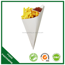 Fish and chips paper cone holder container