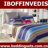 luxury stripe 200 thread count bed sheet quilt cover set