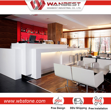 restaurant bar tops acrylic solid surface commercial bar counter for sale