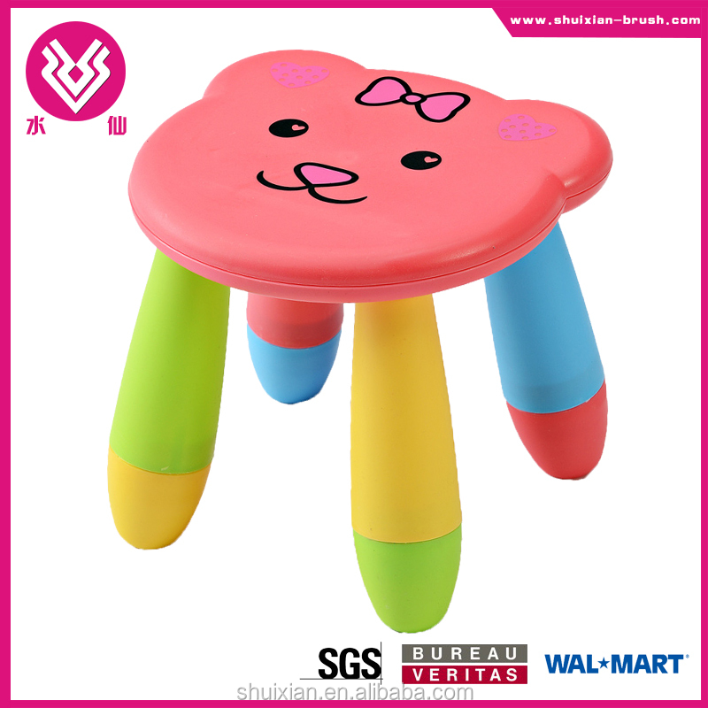 2015 new style colorful cheap convenient folding cartoon kid stool baby plastic chair