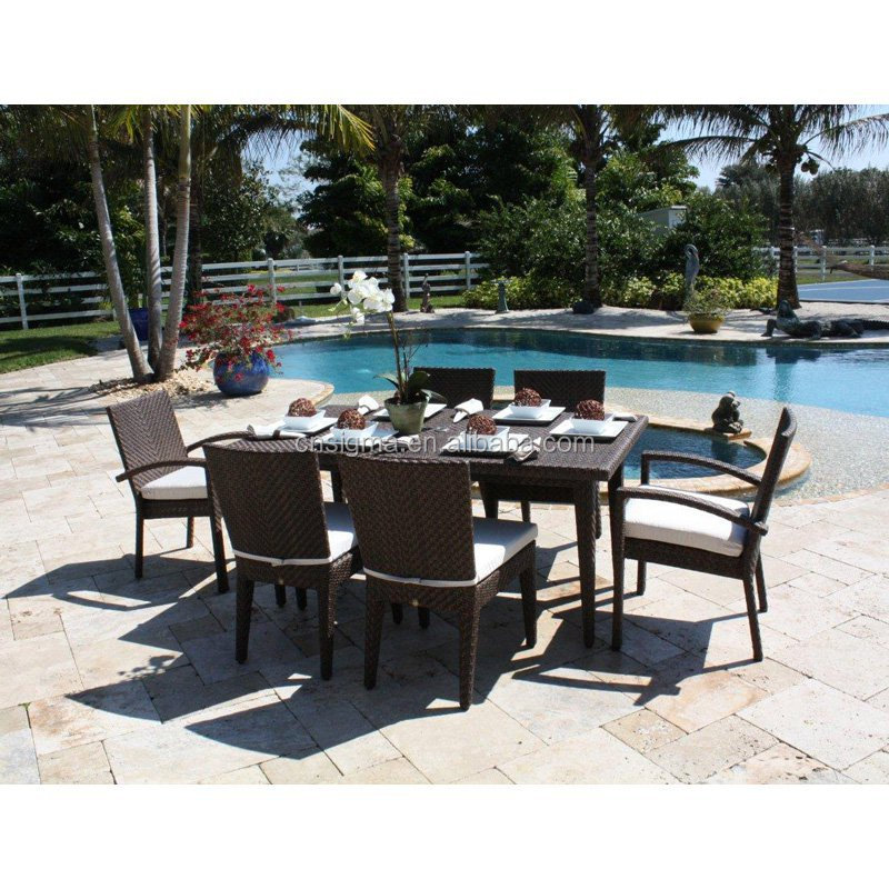 2017 Trade Assurance Elegent Design Comfortbale furniture outdoor PE rattan handmake table set on sale
