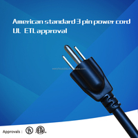 american 110v plug UL approval power cord