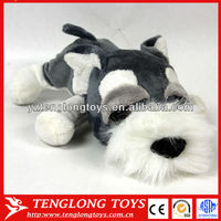 2014 High quality stuffed plush lying dog cute plush dog with big eyes