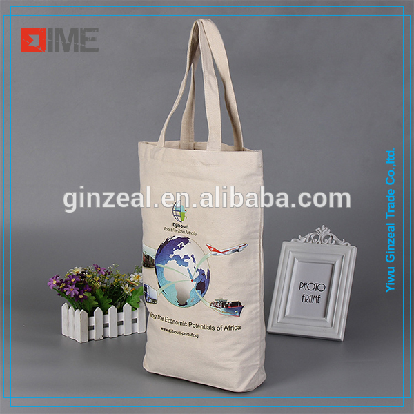 Promotional Custom Logo Printed Calico Bag Cotton Canvas Shopping Tote Bag