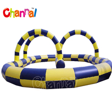 Customized inflatable zorb ball track inflatable race track for sale