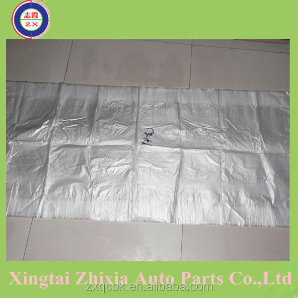 ZX disposable plastic clear car seat cover/foot pad/steering wheel covers/gear stick cover/spacer sleeve, full set or unique