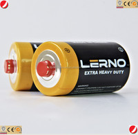 R20/D pvc dry battery for radio, dry cell battery for toy, dry battery cell for lighting