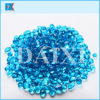 Colored decorative glass beads for swimming pool