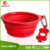 Portable Collapsible Travel Silicone pet dog bowl with Clip for feeding and Drinking