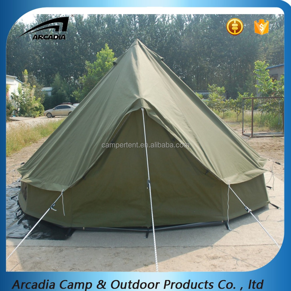Outdoor sight seeing waterproof cotton canvas glamping luxury tent with aluminum poles