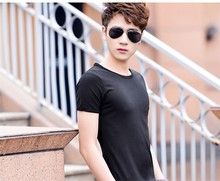 100%Cotton Charming Casual Men's Blank Short Sleeve O Neck T-shirt