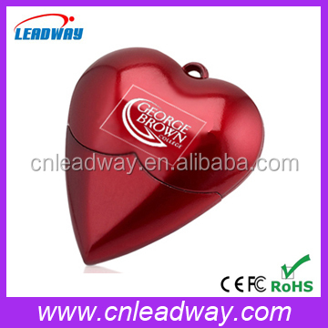 heart shape usb flash drive cheapest secret key sex promotional gift 1GB to 32GB