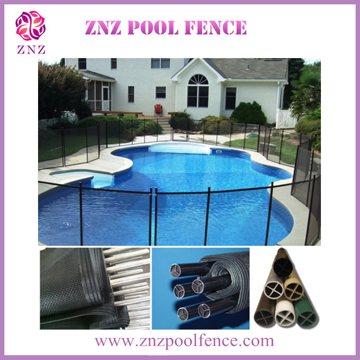 ZNZ passed UV certification factory high quality swimming vinyl temporary pool mesh fence gate latch