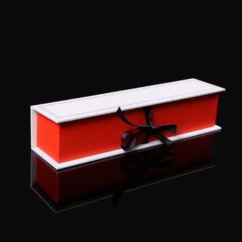 Handmade elegant jewelry gift box packaging with ribbon closure