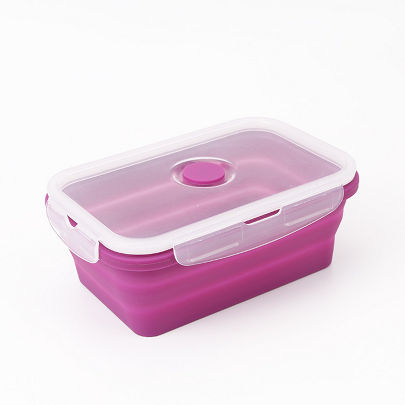 Leak Proof, Microwave Safe, Silicone Food Container with Lid, Collapsible Lunch Box