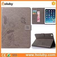 Alibaba Bulk Quantity Wholesale Flower Pattern Magnetic Flip Stand for iPad Air 2 iPad 6 Tablet Covers Leather Case