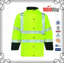 long sleeve fleece 3m reflecitve pilot working uniform winter jacket