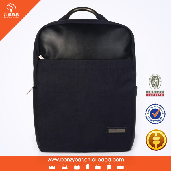 19 Inch Waterproof Laptop Bag Cow Leather Laptop Backpack Bag