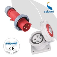 SAIPWELL 2014 New Anti-corrosion and Waterproof Industrial Socket and Plug ip44 ip67