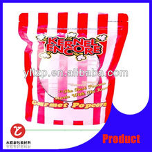 Nylon /LDPE Vacuum top zipper plastic pouch bags/nylon food packaging plastic