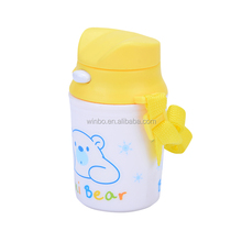 PP plastic water bottle with pop up lid