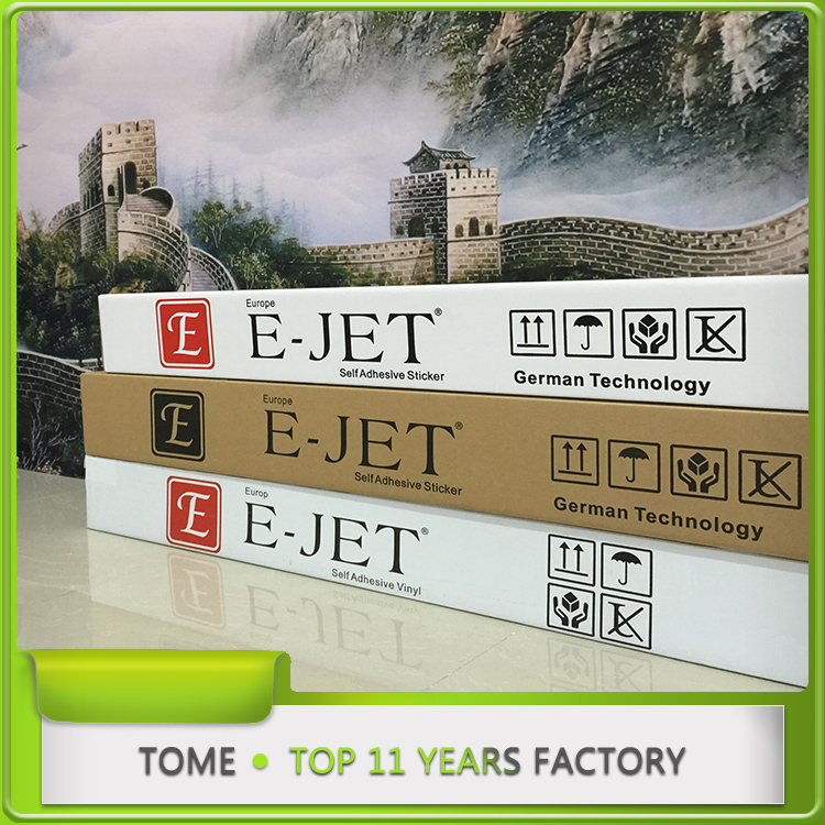 Ejet -Europe self-adhesive vinyl for vehicle graphics , 50m high quality advertising materials