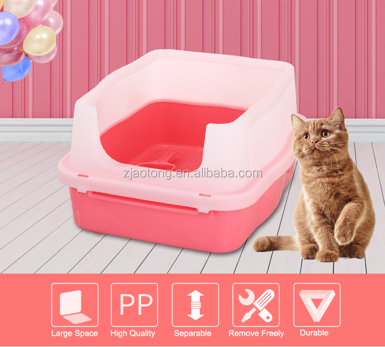 Double-deck Cat Litter Pan With Scoop