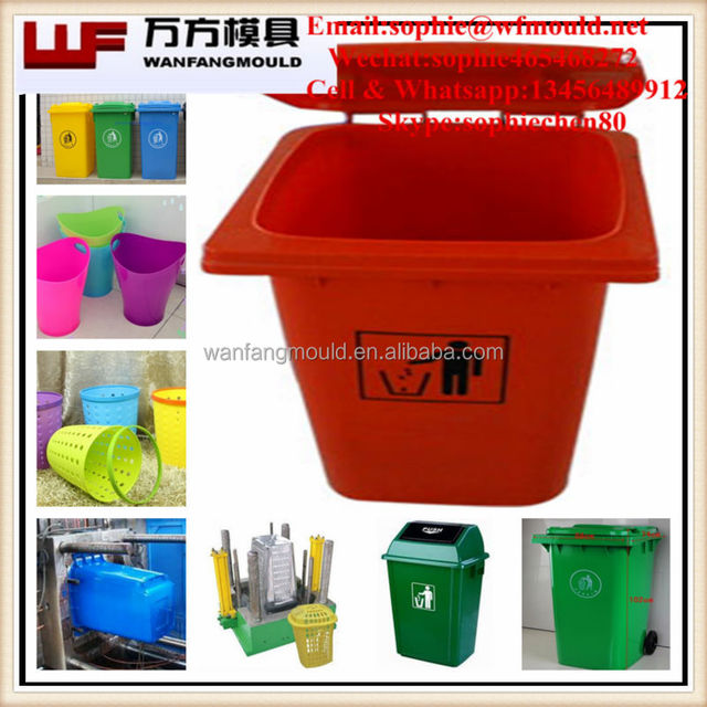 Zhejiang taizhou Plastic injection garbage bin mould 50L