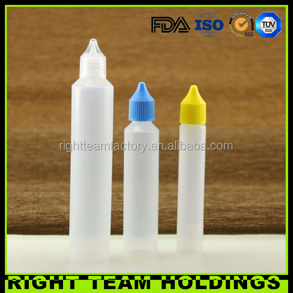 Labeling bottles 100ml unicorn dropper bottles with screw cap long thin tip CFR1700.20