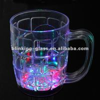 Glowing drinking glass
