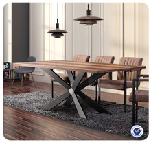 modern wood metal dining table dinette sets