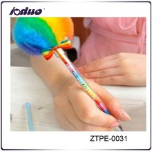 2015 Best-selling Gorgeous Rainbow Colored Hair Bulb Creative Neutral Pen Office And School Pen,Beautiful Writing