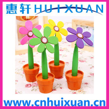 Fashion Sunflower promotion ballpoint pen / plastic ballpoint pen
