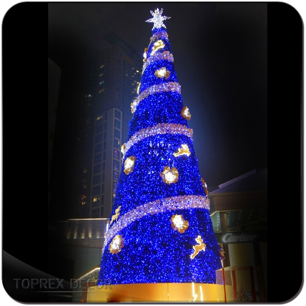 Shopping mall decorative LED upside down christmas tree