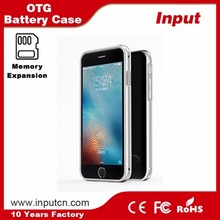 OTG memory expansion 128G max replaceable TF card case battery charging for iPhone 6 6s