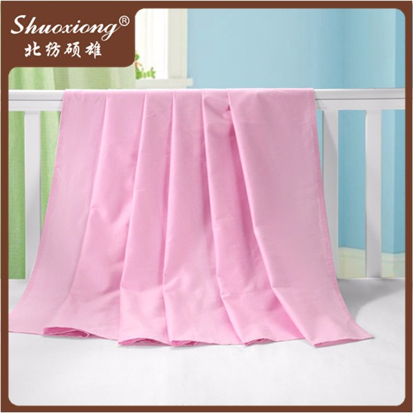 cheap pink color dyeing 50% cotton 50% polyester fabric for bedding