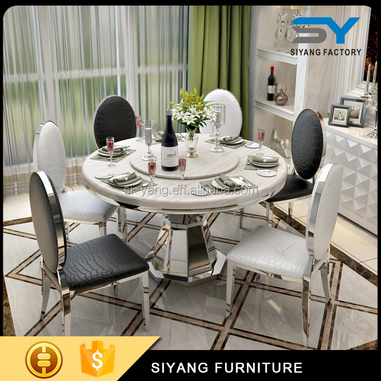 Stone Table Malaysia Elephant Round Dining Table For 6 Seater