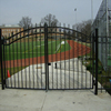 Without welding Custom height and colors iron pipe gate design