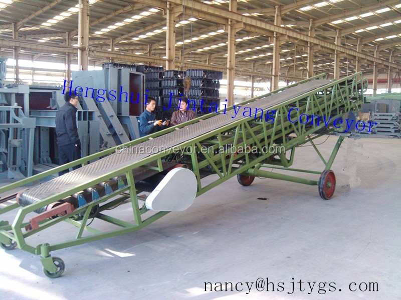 Easy use Mobile Automatic trailer/van/truck/container loading and unloading conveyor parts